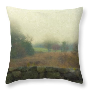 Sun Breaking Through Throw Pillow