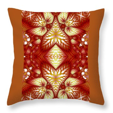 Sun Burnt Orange Fractal Phone Case Throw Pillow