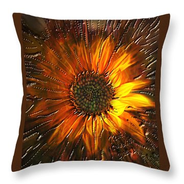 Sun Burst Throw Pillow