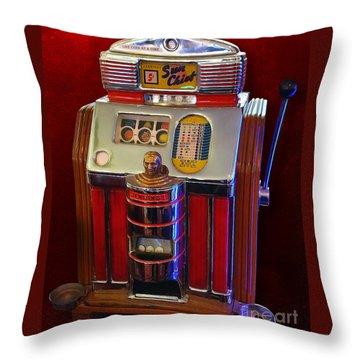 Sun Chief Vintage Slot Machine Throw Pillow