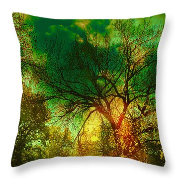 Sun Daggers Throw Pillow by Kat Besthorn