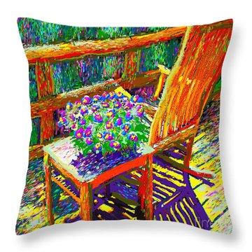 Sun Dance On Deck Throw Pillow