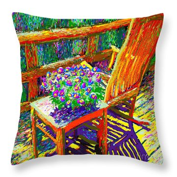 Sun Dance On Deck Throw Pillow