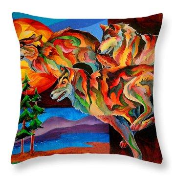 Sun Dance Throw Pillow by Sherry Shipley