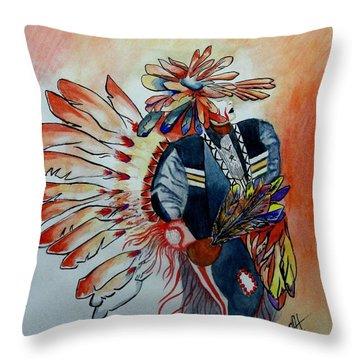 Sun Dancer Throw Pillow by Jimmy Smith