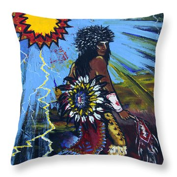 Sun Dancer Throw Pillow by Karon Melillo DeVega