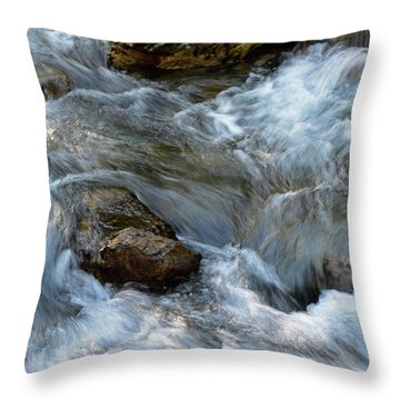 Sun Dancing Rapids Throw Pillow
