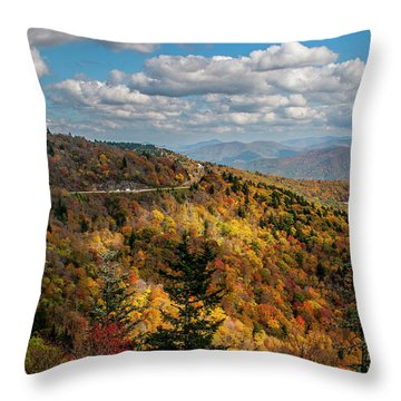 Sun Dappled Mountains Throw Pillow