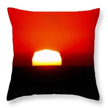 Sun Dipping Throw Pillow