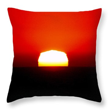 Sun Dipping Throw Pillow