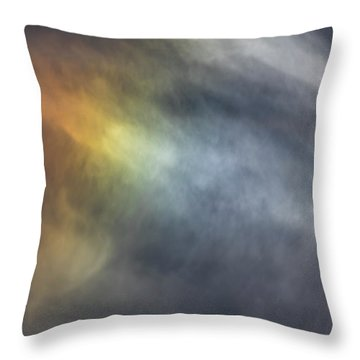 Throw Pillow featuring the photograph Sun Dog 2017 by Thomas Young