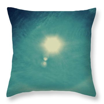Sun Dog Cortez Island 2017 Throw Pillow