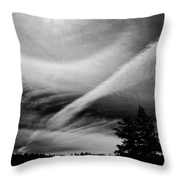 Sun Dog On Cortez Island Throw Pillow