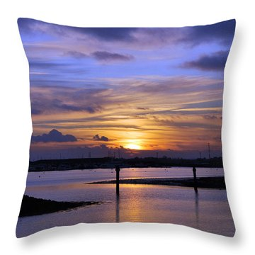 Sun Down Throw Pillow