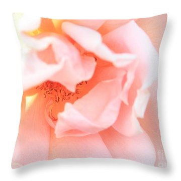 Sun-drenched Rose Throw Pillow