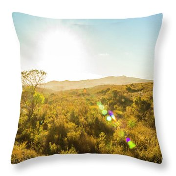 Sun Flare Prairie  Throw Pillow