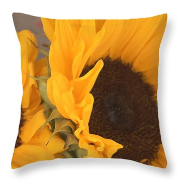 Sun Flower Throw Pillow by Jana Russon