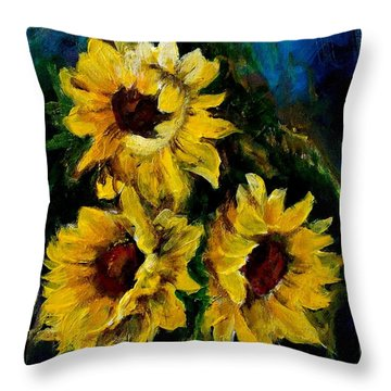 Sun Flowers 1 Throw Pillow
