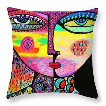 Sun Goddess Throw Pillow by Sandra Silberzweig