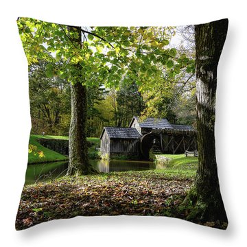 Sun Going Down At The Mill Throw Pillow