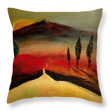 Sun Going Down Throw Pillow