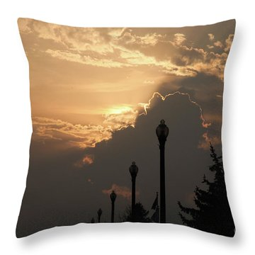 Sun In A Cloud Of Glory Throw Pillow by Andee Design