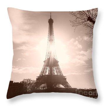 Sun In Paris Throw Pillow