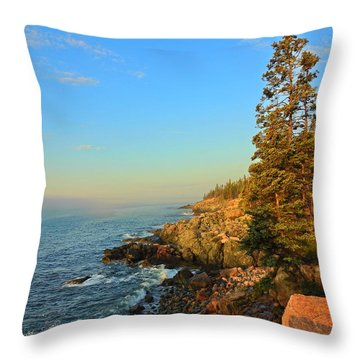 Sun-kissed Coast Throw Pillow