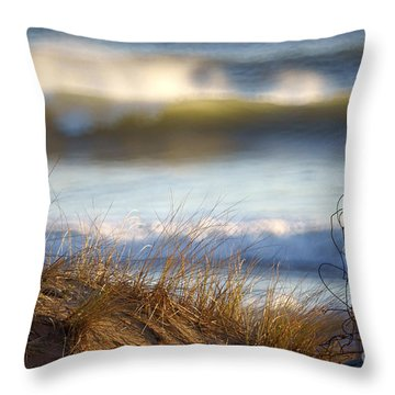 Sun Kissed Waves Throw Pillow