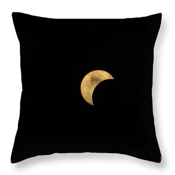 Sun Moon Clouds Throw Pillow
