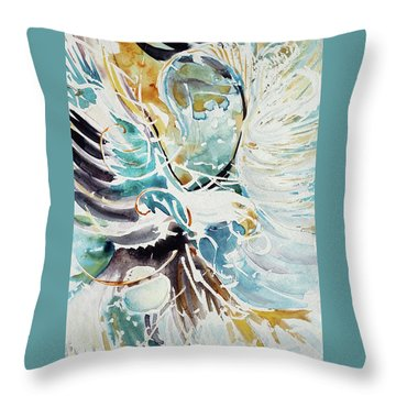Sun Moon Water Sky Throw Pillow