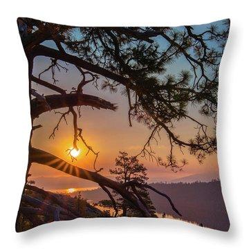 Sun Ornament Throw Pillow