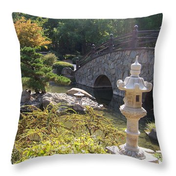 Sun Over Bonsai Throw Pillow