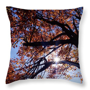 Sun Peaking Threw Throw Pillow by Debra Crank