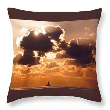 Sun Peek Sailboat Throw Pillow