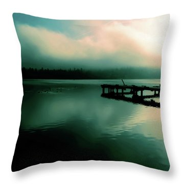 Sun Peeking Through The Clouds  In Kenmore Washington Throw Pillow