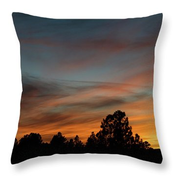 Sun Pillar Sunset Throw Pillow