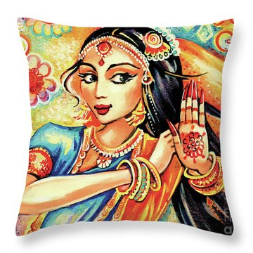 Sun Ray Dance Throw Pillow