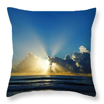 Sun Ray Sunrise Throw Pillow