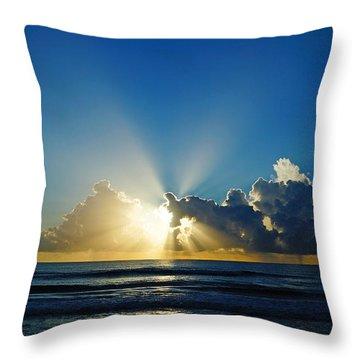 Sun Ray Sunrise Throw Pillow