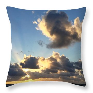 Sun Rays And The Cloud Throw Pillow