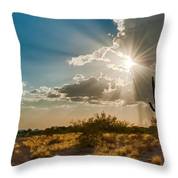 Throw Pillow featuring the photograph Sun Rays In Tucson by Dan McManus