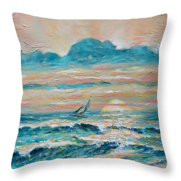 Sun Rays Throw Pillow by Linda Olsen