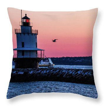 Sun Rise At Spring Point Throw Pillow