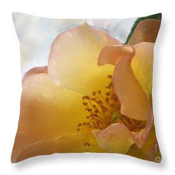 Sun Rise Rose Throw Pillow