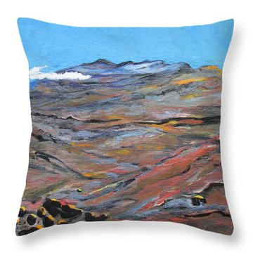 Sun Salutation At Haleakala Throw Pillow