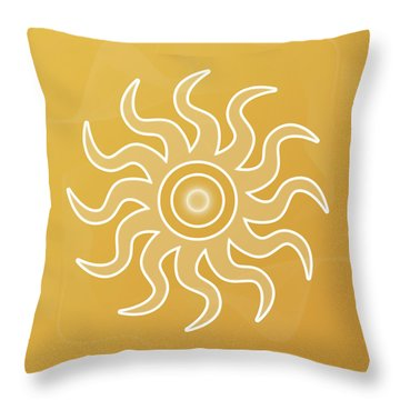 Sun Salutation Throw Pillow
