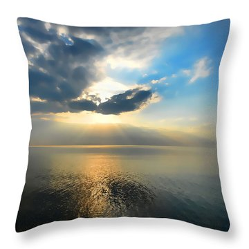 Sun Set #1 Throw Pillow
