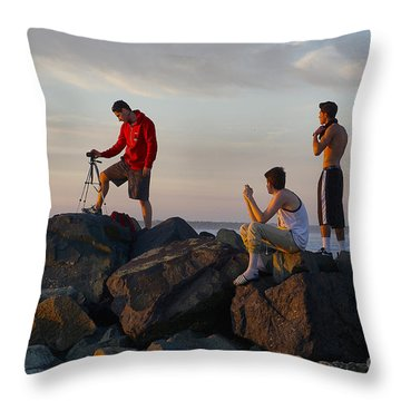 Sun Set Shooters Throw Pillow