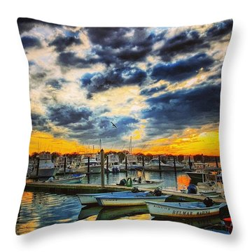 Reflections On The Marina Throw Pillow